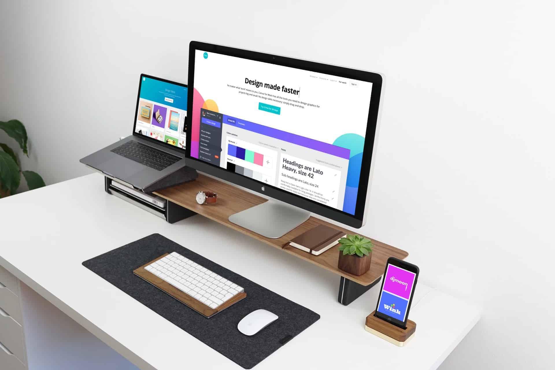 Canva app on desktop