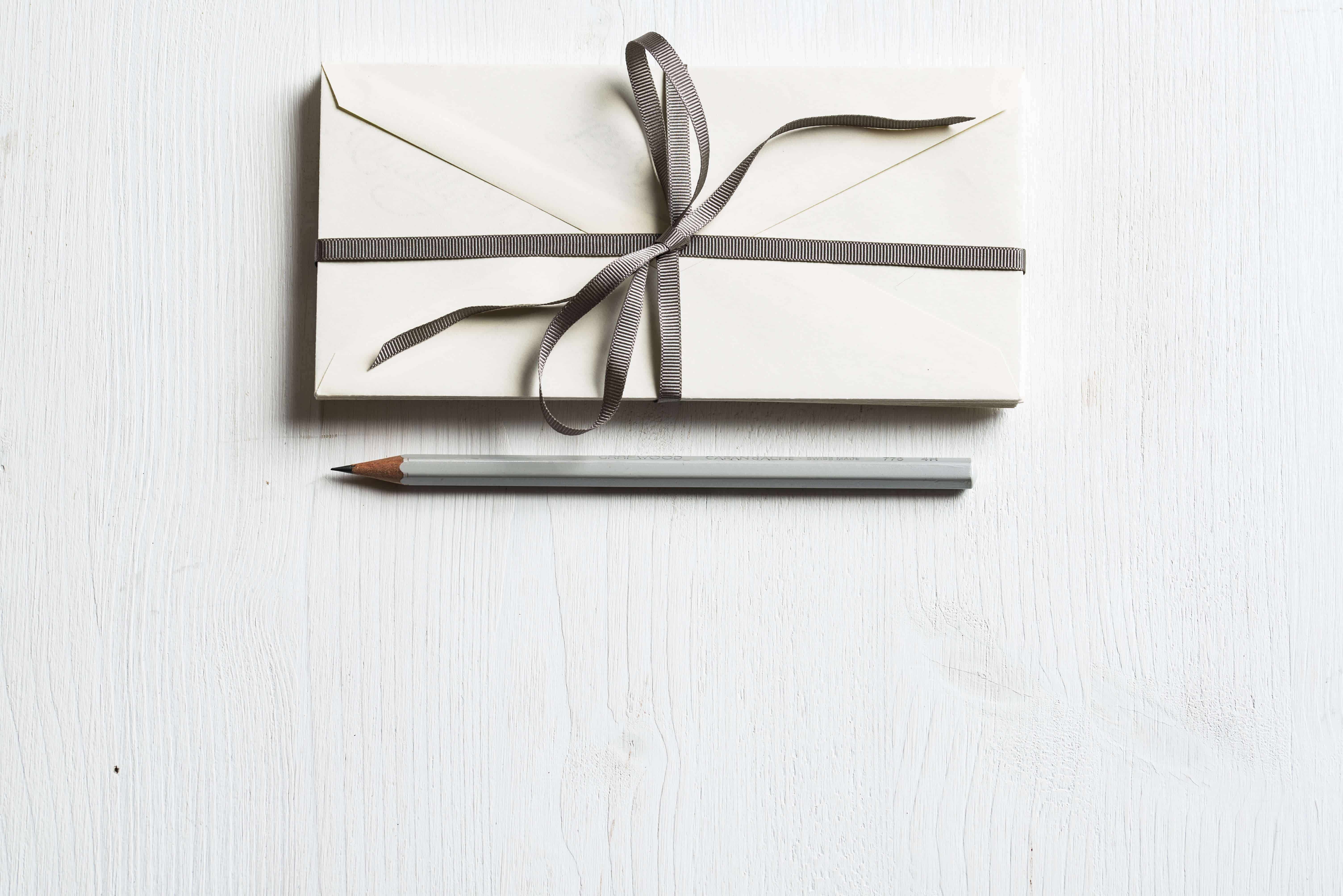 designer pencil and gift
